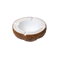 Coconut Shaped Polyresin Ashtray | Wholesale Distributor